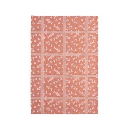 Casafina Kitchen Towel Orange Floral Set Of 2