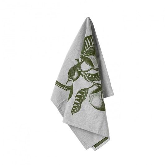 Casafina Kitchen Towel Apple Leaves Set Of 2