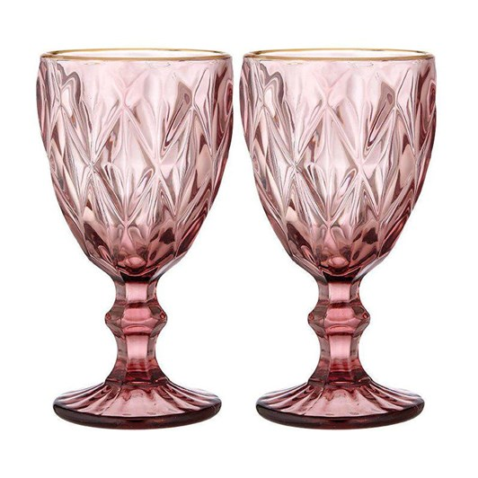Ezra Pink Wine Glass Set Of 2