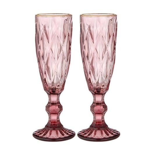Ezra Pink Champagne Glass Set Of 2