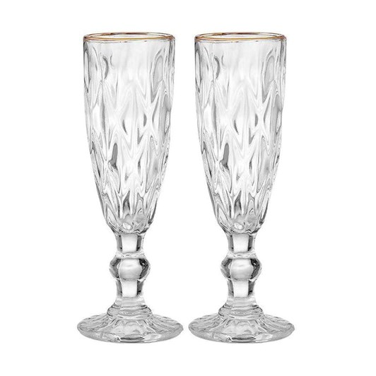 Ezra Clear Champagne Glass Set Of 2