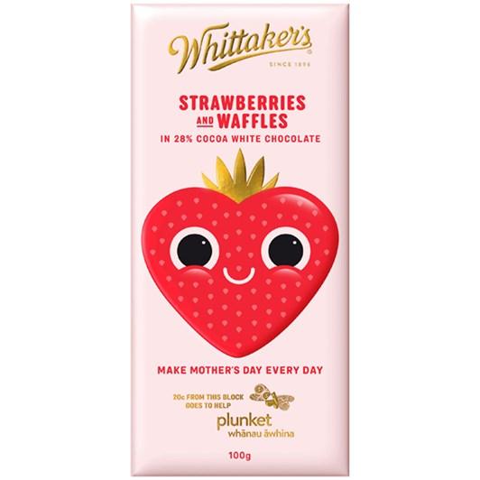Whittakers Strawberry Waffle Chocolate 100g