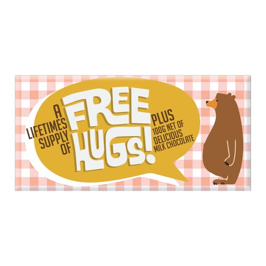 Bloomsberry Free Hugs Milk Chocolate Bar 100g