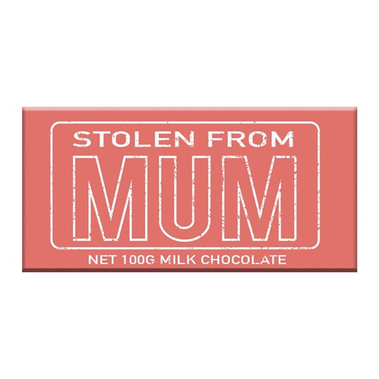 Bloomsberry Stolen From Mum Milk Chocolate Bar 100g