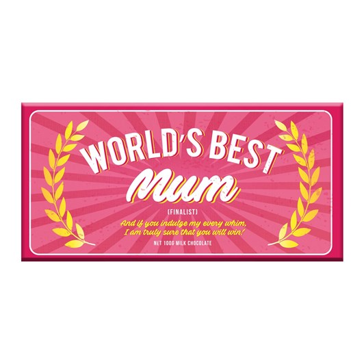 Bloomsberry Worlds Best Mum Milk Chocolate Bar 100g
