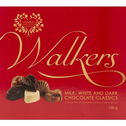 Walkers Milk, White & Dark Classics 120g