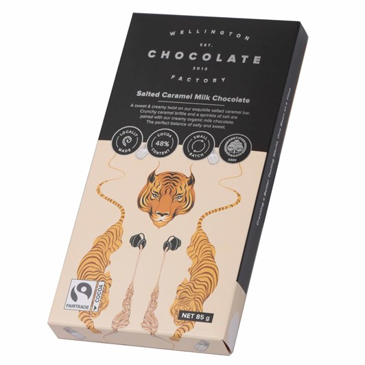 Wellington Chocolate Factory Salted Brittle Caramel Bar Milk 85g