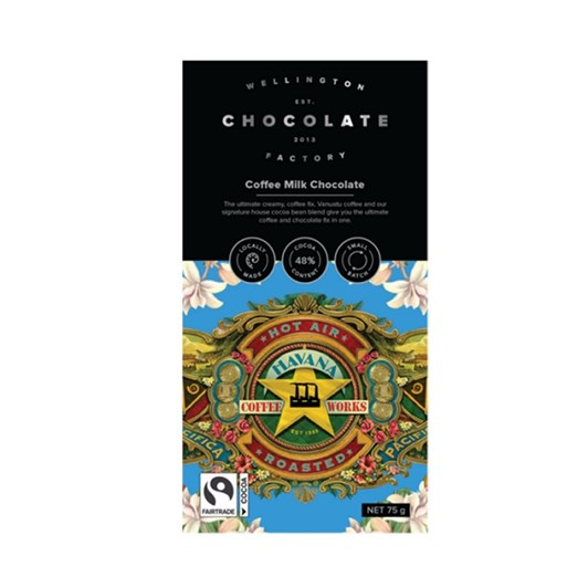 Wellington Chocolate Factory Coffee Milk Chocolate Bar 75g