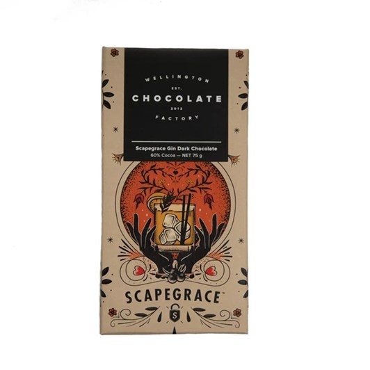 Wellington Chocolate Factory Scapegrace Gin Bar 75g
