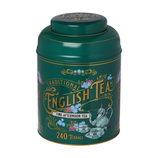 Forest Green Vintage Tea Caddy With English Afternoon 240 Teabags