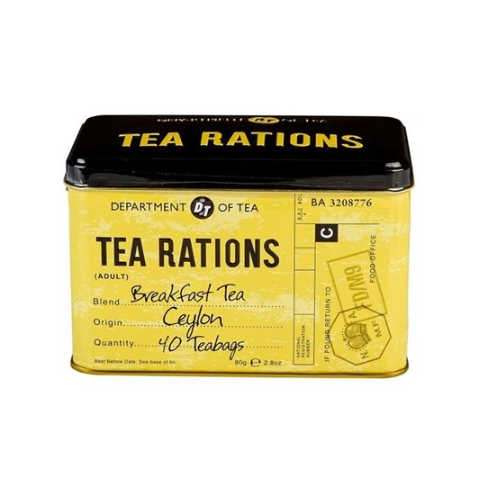 Tea Rations Breakfast Tea Caddy With 40 Breakfast Teabags