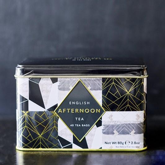 Geometrics English Afternoon Tea Caddy With 40 Teabags