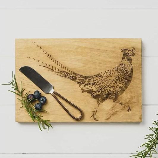 Just Slate Pheasant Cheese Board & Knife Set