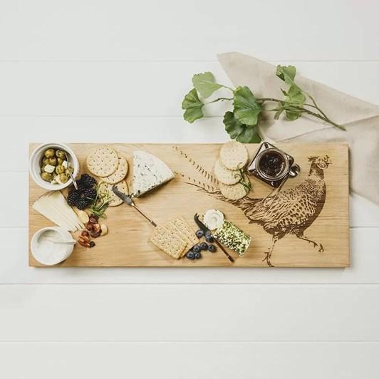 Just Slate Pheasant Large Oak Serving Board