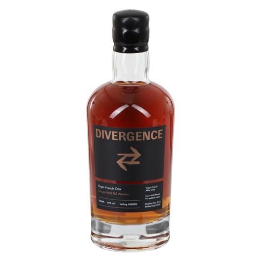 Divergence Single Malt NZ Whisky Virgin French Oak 46% 700ml