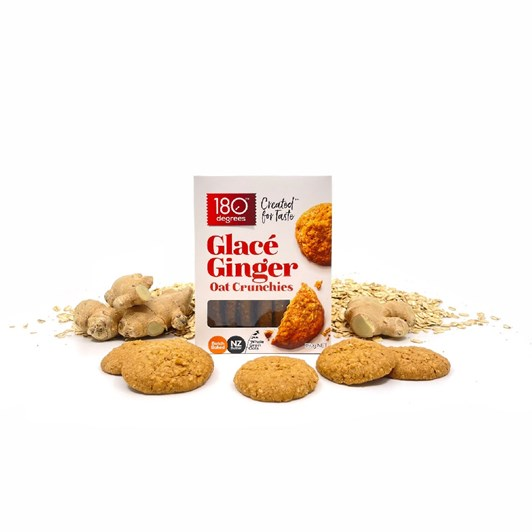 180 Degrees Glace Ginger Oat Crunchies 150g