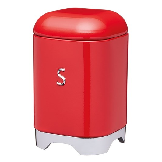 Kitchen Craft Lovello Sugar Canister 11x18cm 1.5L Red