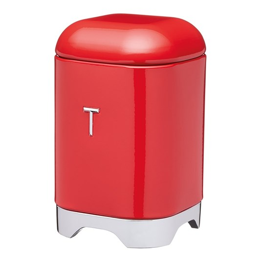 Kitchen Craft Lovello Tea Canister 11x18cm 1.5L Red