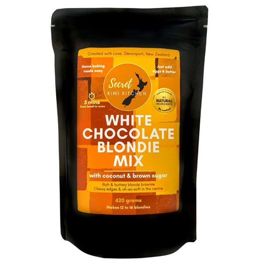 Secret Kiwi Kitchen White Chocolate Blondie Mix 620g