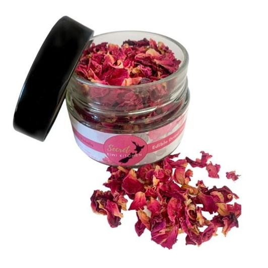 Secret Kiwi Kitchen Edible Rose Petals Jar 200ml