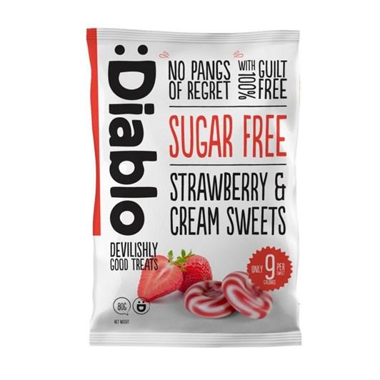 Diablo Sugar Free Strawberry & Cream Sweets 75g
