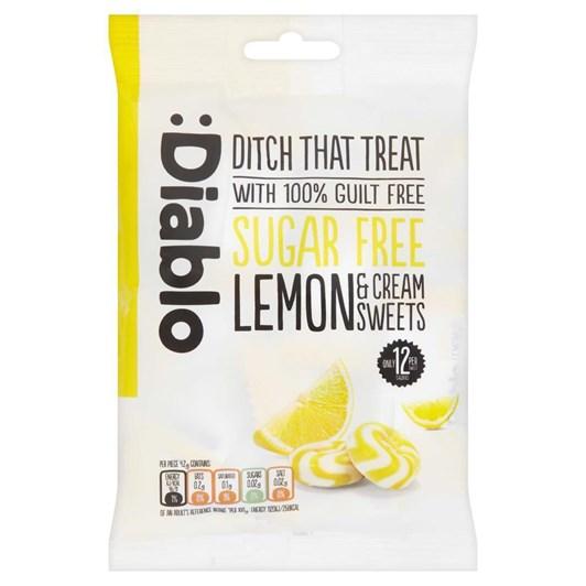 Diablo Sugar Free Lemon & Cream Sweets 75g