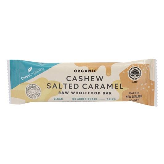 Ceres Organics Cashew Salted Caramel Raw Wholefood Bar - 50g