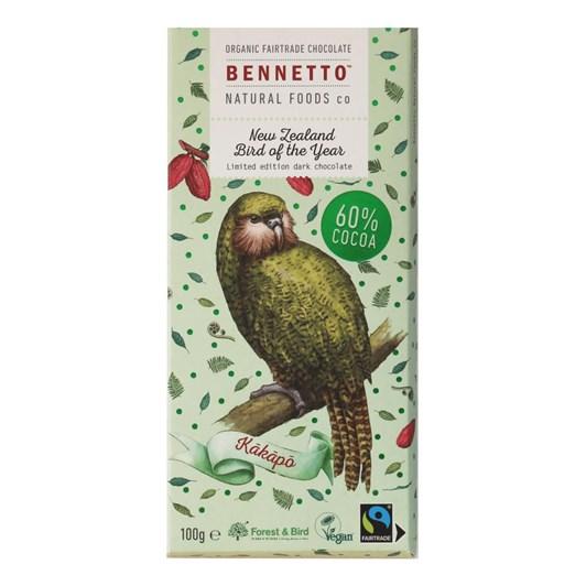 Bennetto Kakapo 60% Dark Limited Edition Chocolate 100g