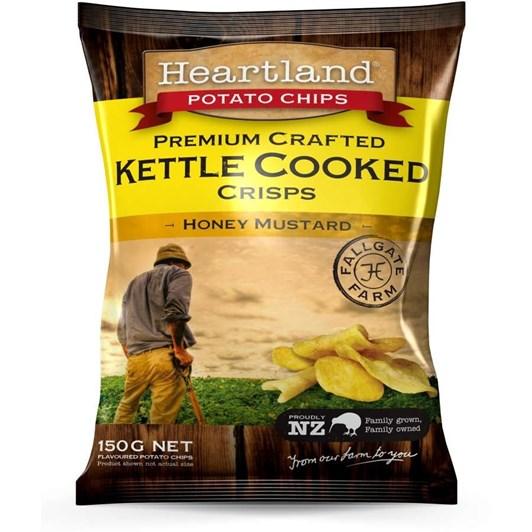 Heartland Honey Mustard Kettle Crisps 150g