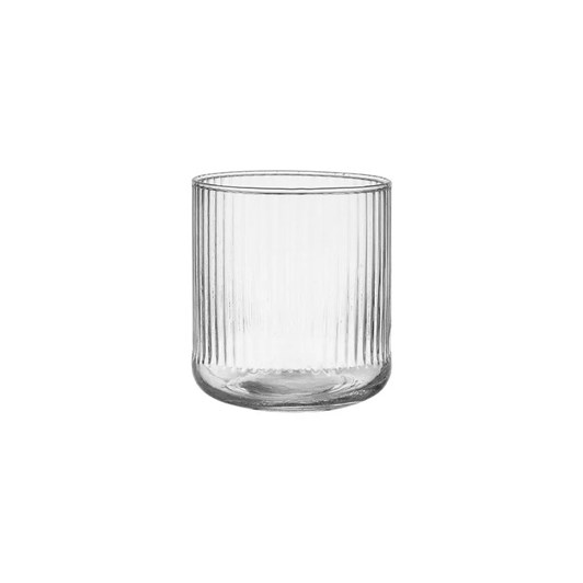 Ladelle Zephyr Ribbed Clear Glass Tumbler