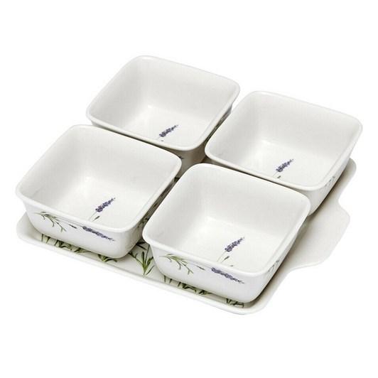 Ashdene Lavender Fields 5 Piece Bowl & Tray Set