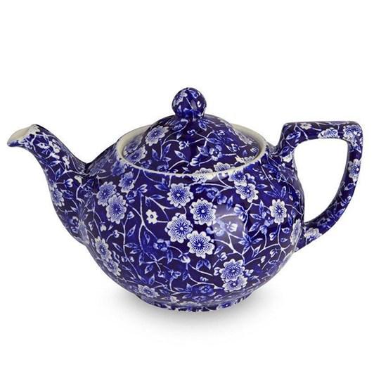 Burleigh Blue Calico Teapot Small 400ml
