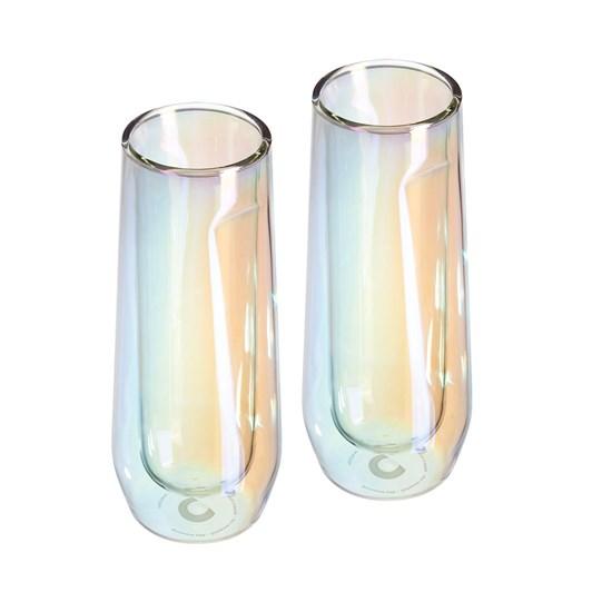 Corkcicle Barware Flute Glass Prism Pack Of 2