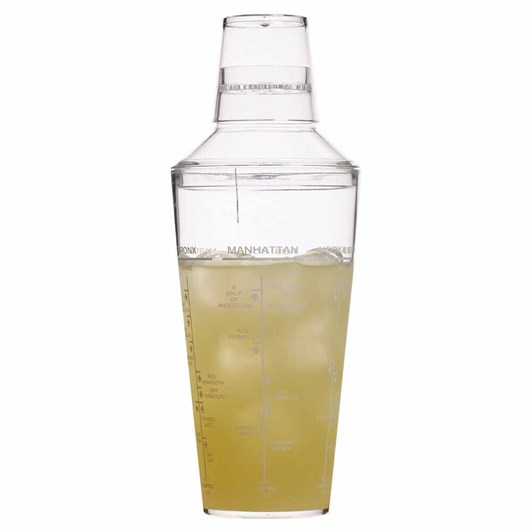 Barcraft Cocktail Shaker 700ml Acrylic Gift Boxed