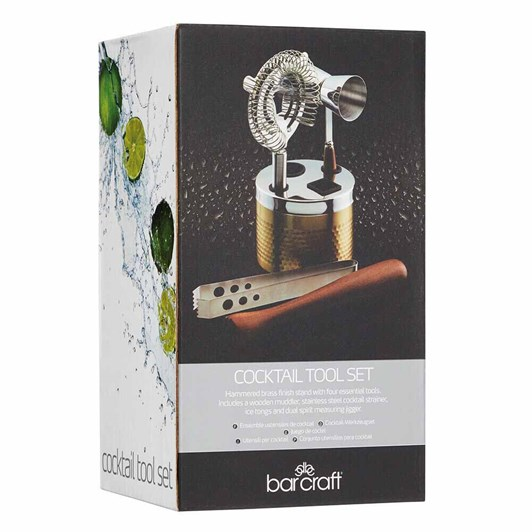 Barcraft Cocktail Tool Set 5Pc Gift Boxed