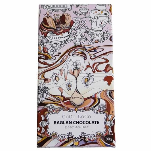 Raglan Chocolate Cocoloco (Vegan Coconut Rough) Chocolate Bar 90G