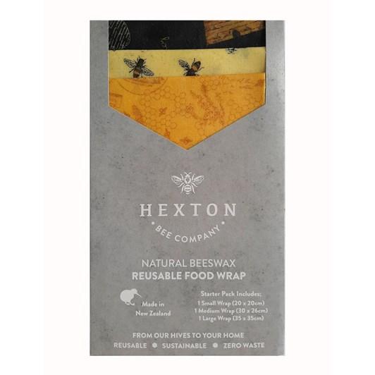 Hexton Bee Company Reusable Food Wrap Starter Pack Queen Bee