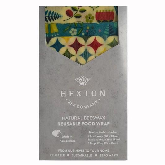 Hexton Bee Company Reusable Food Wrap Starter Pack Kiwiana Fantail