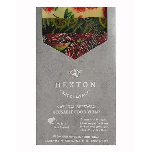 Hexton Bee Company Reusable Food Wrap Starter Pack Kiwiana Koru