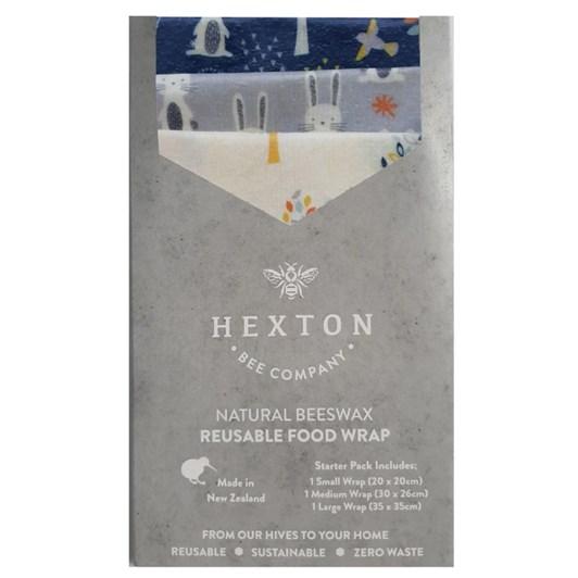 Hexton Bee Company Reusable Food Wrap Starter Pack Woodland Animals