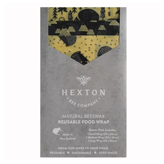 Hexton Bee Company Reusable Food Wrap Starter Pack Fawn & Forest