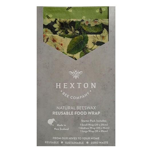 Hexton Bee Company Reusable Food Wrap Starter Pack Le Bouquet