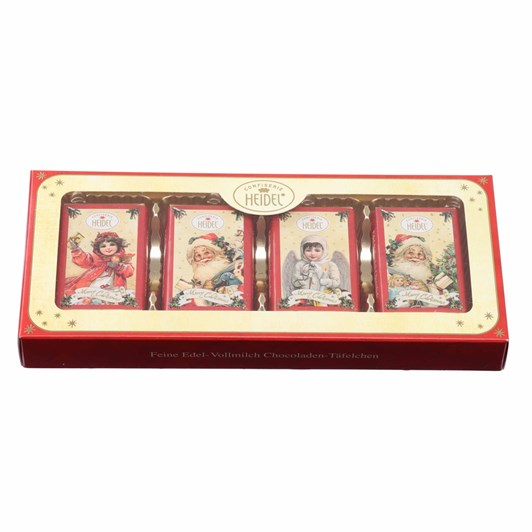 Heidel Christmas Nostalgia Present Containing 8 Mini Milk Choc Bars 80g