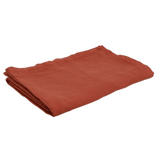French Country Everyday Linen Tablecloth Rust