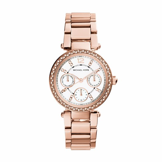 Michael Kors Mini Parker Rose Gold-Tone Analogue Watch MK5616