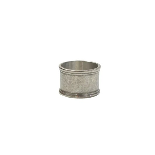 French Country Set 4 Round Pewter Napkin Ring