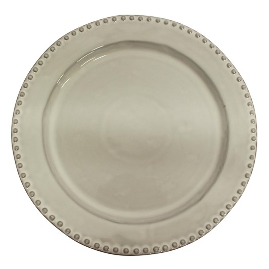 French Country Iris Beaded Dinner Plate