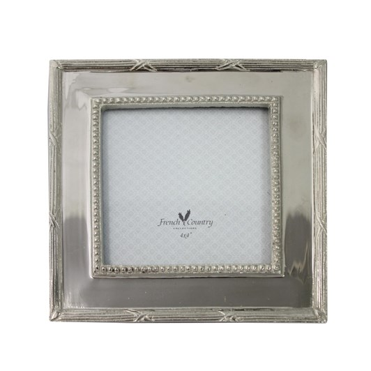 French Country Square Nickel Photoframe 4x4""