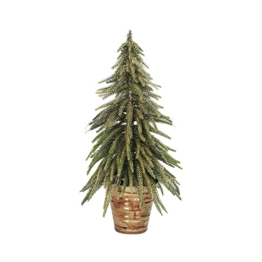 French Country Potted Table Tree Gold Medium