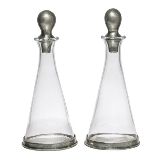 French Country Cone Shape Oil and Vinegar with out Stand